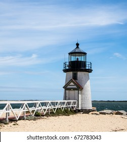 Brant Point Lighthouse, located on Nantucket Island, MA, was established in 1746, automated in 1965, and still in operation.