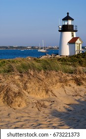 Brant Point lighthouse on Nantucket Island has been rebuilt more times than any other beacon in the country.