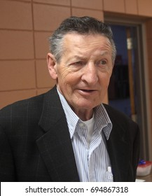 BRANTFORD, ONTARIO - DECEMBER 18, 2011: Walter Gretzky, the father and first coach of famous hockey player Wayne Gretzky, has received many honors for his contributions to minor hockey in Canada.