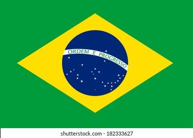 Brasil flag illustration. (EPS vector version also available in portfolio)