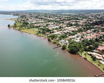 BRASILIA, BRAZIL, 31 MARCH, 2018, North Lake Neighborhood, Aerial View