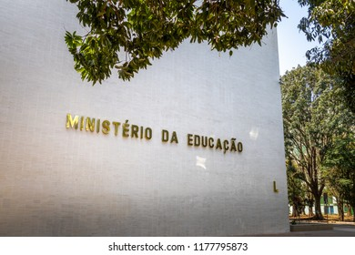 Brasilia, Brazil - Aug 26, 2018: Ministry of Education - Brasilia, Distrito Federal, Brazil