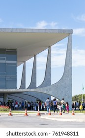Brasilia Brazil. August 05, 2015. Planalto Palace in open day for tourist visitation inside.