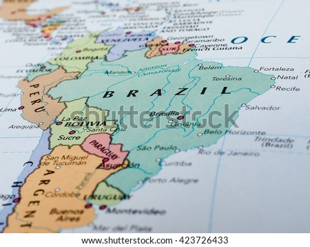 Brasilia Brazil Circa May 2016 Map Stock Photo Edit Now 423726433