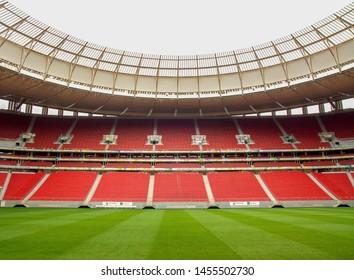 BRASILIA, BRAZIL. Circa October, 2017. View of the Stadium Arena Mane Garrincha, the national soccer stadium of Brasilia, Brazil
