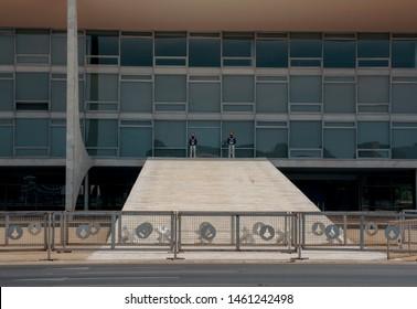 Brasilia, Brazil - Circa october 2017: Planalto Palace entrance by day - Brasilia, Distrito Federal, Brazil