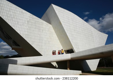 BRASILIA, BRAZIL - JUNE 22, 2014: National Memorial at the Three Powers Plaza located at the capital of Brazil.
