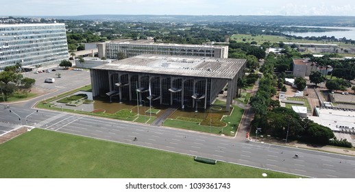 BRASILIA, BRAZIL, MARCH, 04, 2018, Justice Palace, Aerial View