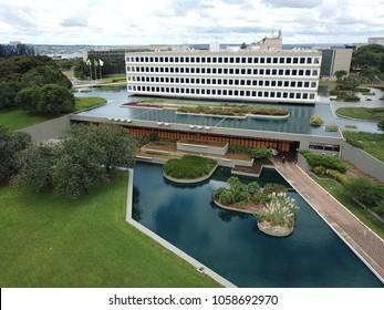 BRASILIA, BRAZIL, MARCH, 31, 2018 Tribunal de Contas da União, TCU, Aerial View