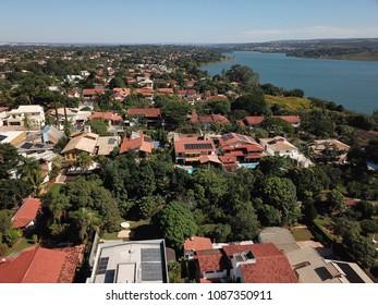 BRASILIA, BRAZIL, MAY, 05, 2018, North Lake Neighborhood, Aerial View