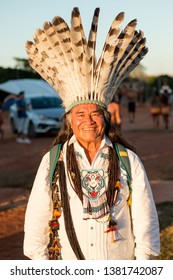 "Brasilia, Brazil-April 25th 2019: Thousands of Indigenous Indians descend upon the capital city of Brasilia, in a movement called ""Acampamento Terra Livre 2019 (Encampment for Free Land)"