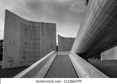 Brasilia Classical Landmarks and Buildings.  Brasilia, DF/Brazil. 04/20/2018