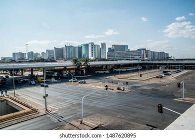 Brasilia, DF, Brazil - Ago, 25, 2019: A beautiful view of Brasilia Bus Station (Rodoviária de Brasilia).
