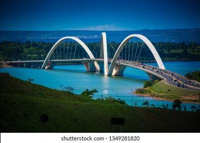 Brasilia, DF, Brazil - January, 23, 2018: JK Bridge.