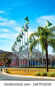 Brasilia, DF, Brazil - Jul, 31, 2019: A view of Park Shopping in the city.