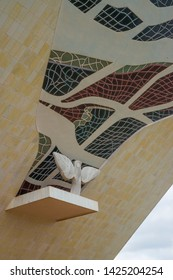 Brasilia, DF, Brazil - Jun, 15, 2019: A view of Brasilia monument (Panteão da Pátria) in the city.