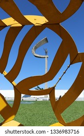 Brasilia, DF, Brazil - March, 12, 2019:  JK Memorial in Brasilia.
