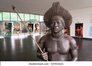 BRASILIA, DISTRITO FEDERAL, BRAZIL - DECEMBER 13, 2016: Memorial of the Aboriginal Peoples
