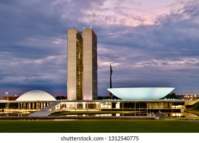 Brasilia, Federal District/ Brazil - 02/14/2019: Brazilian national congress building