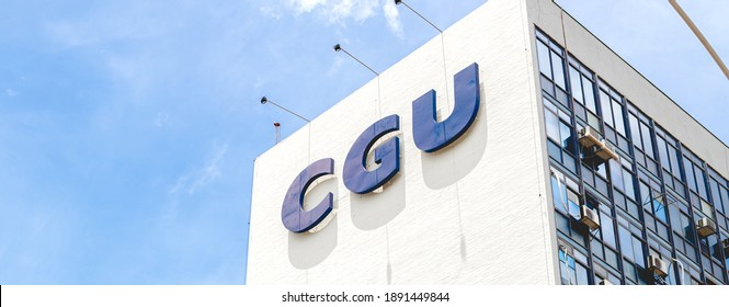 Brasilia, Federal District - Brazil. January, 10, 2021. Building of the Comptroller General of the Union - CGU, in the Brasília city.