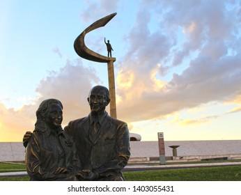 Brasilia, Federal District, Brazil - May 18, 2019. JK Memorial.
