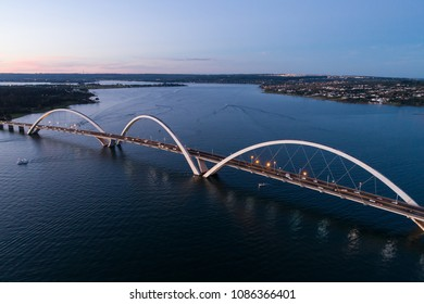 Brasilia, Paranoa Lake, JK Bridge, Aerial View