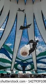 Brasilia/DF/Brasil - jan, 31, 2014. Brasilia Cathedral an architectural mark of Oscar Niemeyer