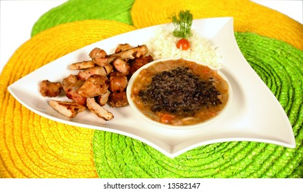 Brasilian traditional dish called feijoada