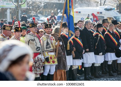 Brasov, Romania – 24 January, 2018; Traditional celebration of the union day of the Romanian principalities in the main square of Brasov