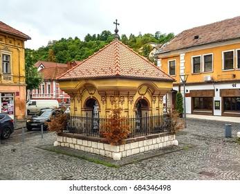 Brasov, Romania - 26 May, 2017: Captain Ilie Birt's Shrine (Troita Capitanului Ilie Birt)