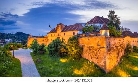 Brasov, Romania - Aerial view of the Citadel, fortress built by Transylvania princeps