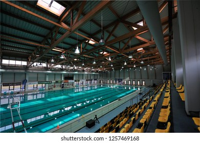 BRASOV, ROMANIA - FEB 10: Empty pool at Brasov in Romanian National Championship Polo , Indoor Event on february 06, 2015 in Brasov, Romania