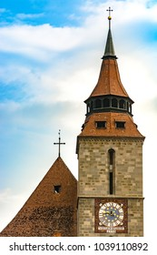 Brasov, Romania: The tower of the Black Church (Biserica Neagra).