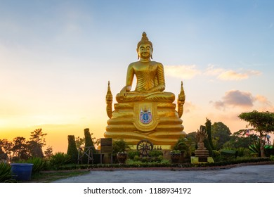 Brass Buddha Statue near the Big Buddha in Phuket, Thailand