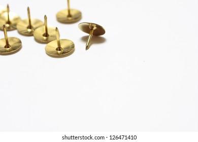 Brass drawing pins