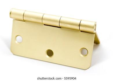 Brass hinge.