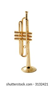 brass instrument, miniature trumpet