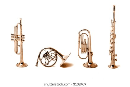 brass instruments collection, miniature