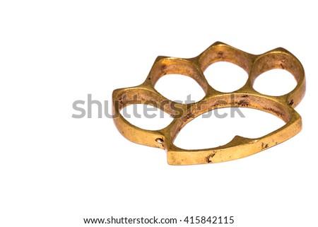 Brass Knuckles Cookie Cutter