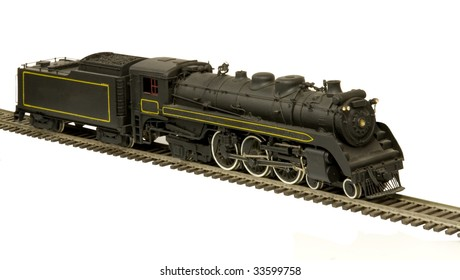 BRASS MODEL OF CANADIAN PACIFIC ON A WHITE BACKGROUND
