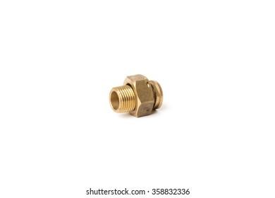 Brass nut counter water
