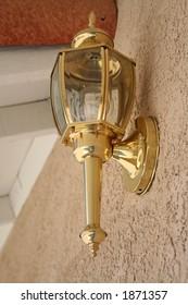 brass outside lantern