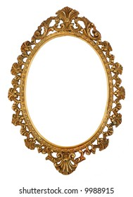 Brass oval picture frame
