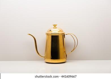 Brass Tea Pot Isolate