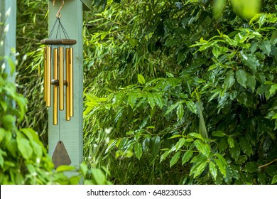 Brass tubular wind chime