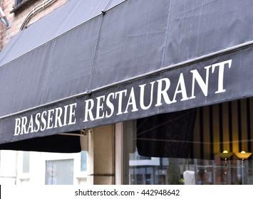 Brasserie restaurant, building exterior