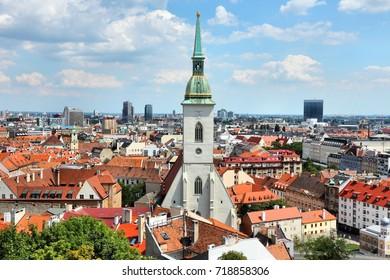 Bratislava, capital city of Slovakia. Cityscape with old architecture.