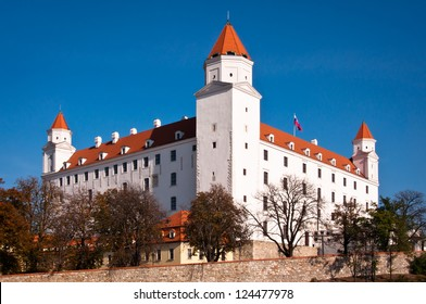 Bratislava castle against a blue sky