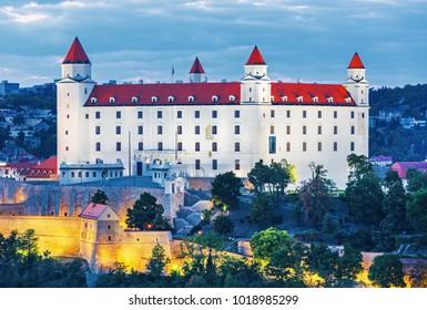Bratislava castle in heart of Bratislava city, Slovakia