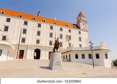 Bratislava Castle, the main castle of Bratislava, the capital of Slovakia.